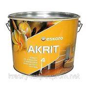 Акрит 4 Akrit 4 Eskaro глубокоматовая краска для стен и потолков 9.5л