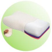 Подушка ортопедическая под с эффектом памяти трехслойная (Тривес ТОП-105) фото
