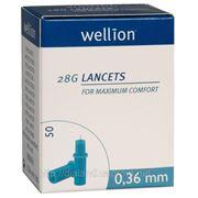 Ланцеты Веллион (Wellion) 28G (0,36мм) №50 фото