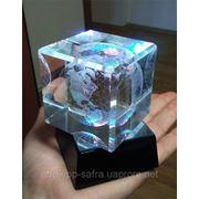 Лазерная гравировка в стекле фото