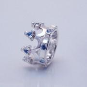 Серебряное кольцо с позолотой и голубым топазом от WickerRing фото