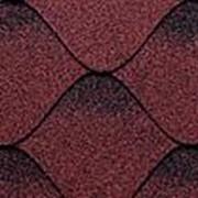 Мягкая кровля Kerabit коллекция S+ с тенью. Цвет красно-черный фото