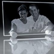 3D гравировка стекла фото