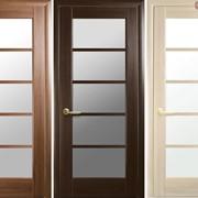 Дверь из бруса Новый стиль Муза каштан фото