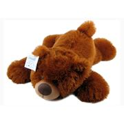Медвежонок лежащий коричневый (В-074/2). Пошив игрушек. фото