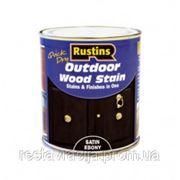 Лак цветной для внешних работ, темное дерево . Q/D Outdoor Wood Stain, Satin Ebony, 500 ml фото