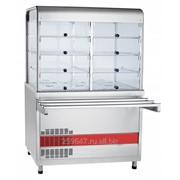 Прилавок-витрина холодильный ПВВ(Н)-70КМ-С-02-НШ вся нерж. с гастроемкостями 1120 мм фото