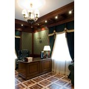 Интерьер домашнего кабинета в английском стиле фото