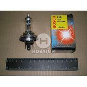 Лампа фарная АКГ 12-60+55 ВАЗ галоген. H4 ближн., дальн. свет (BOSCH) фото