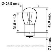Лампа 24V P21W24V 21W BA15s(пр-во Philips) фото