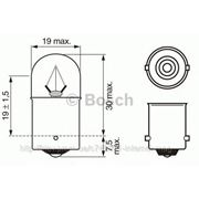 Лампа 24V R5W24V 5W BA15s (пр-во Bosch) фото