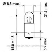 Лампа 24V T4W24V 4W BA9s (пр-во Philips) фото