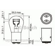 Лампа накаливания 12V 21/4W P21/4W PURE LIGHT (пр-во BOSCH) фото