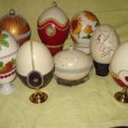 Сувениры с страусиных яиц фото