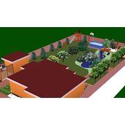 Разработка генерального плана и проекта ландшафтного дизайна в 3D. фото