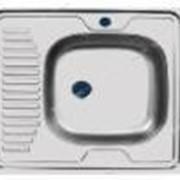 Мойка 0, 6 мм накладная 60 см ширина * 50 см глубина правая (большой сифон, глянец) №172416 фото