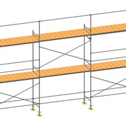 Фасадные строительные леса в аренду ( легкие с настилами )