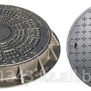 Канализационный люк из композитного материала - с двойной крышкой фото