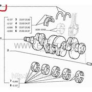 Полукольца разлёта коленвала +0,127 1.2i 8v Doblo 2000-2005 71734238 фото