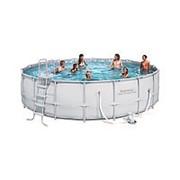 Каркасный бассейн BestWay 488 см х 122 см (с фильтр. песочной установкой) фото