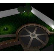 Наружное освещение сада освещение участка. фото
