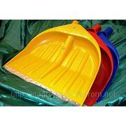Лопаты WAVE 440х460 mm синие, красные и жёлтые для снега или зерна - ISO9001 фото