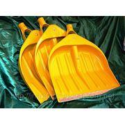 Жёлтые лопаты WAVE для уборки снега 440х460 mm в сборе - ISO 9001 фото