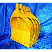 Лопаты WAVE жёлтые 5 шт в сборе для снега 440х460 mm в комплекте крепеж, ручка d40mm и накладка - ISO 9001 фото