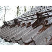 Установка снегозадержателей на крыше дома Макеевка  Донецк  Харцызск фото