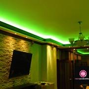 Установка натяжных потолков, подсветка фото