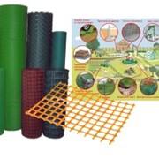 Сетка пластиковая 12х12 1*20 оранжевая 00103 фото