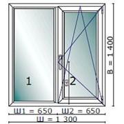 Окно пластиковое двухстворчатое Veka фото