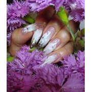 Наращивание ногтей: роспись лепка. фото