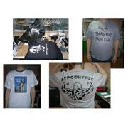 Печать на футболках термоперенос фото
