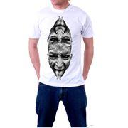 Печать на светлых футболках фото