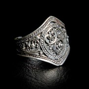 Кольцо из серебра. фото
