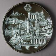 """тарелка """"Вся Полтава"""" изготовление сувениров на заказ Полтава фото"""