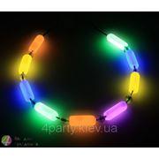 Ожерелье клубное светящееся Glow фото