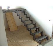 Металлический каркас для лестницы.