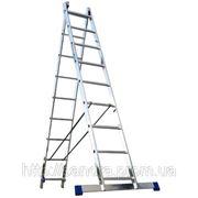 Лестница алюминиевая двухсекционная Elkop VHR Trend 2x10 ступеней