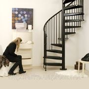 Винтовая лестница Arke Сivik, диаметр 160см, белая/серая/черная