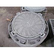 Люк канализационный чугунный тяжёлый (тип Т) 25т