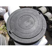 Люки полимер-песчаные ( полимерные, пластиковые ) тяжелые канализационные фото