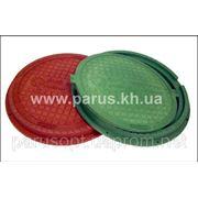 Люк канализационный полимерпесчанный (композитный) смотровых колодцев Л(А15) - 210 грн.