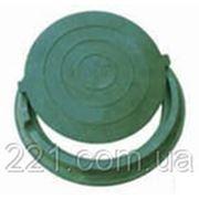 Люк канализационный полимерпесчаный легкий зеленый до 3 тонн