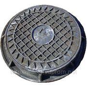 Люк канализационный легкий. Размеры: Ø770×90. Крышка: Ø620×30 фото