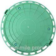 Канализационный люк пластиковый зеленый фото