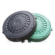 Люк смотровой пластмассовый легкий с замком (зеленый)