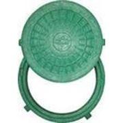Люк смотровой Мпласт 1,5т зеленый фото