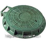 Люк пластмасовый легкий №3 (зелений) фото